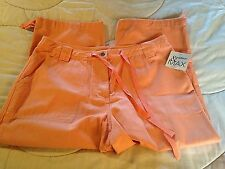 WOMENS MADISON & MAX APRICOT CLAM DIGGERS CAPRIS CROPPED PANTS  NWT 8P