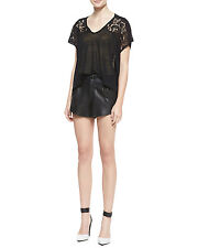 ALICE AND OLIVIA PLEATED LEATHER  MINI BUTTERFLY RAG & BONE DRESS SHORTS NWT 2