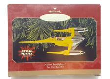 Hallmark STAR WARS NABOO ROYAL STARSHIP Ornament. Episode 1. Keepsake 2001. NEW