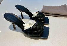 New Bottega Veneta Padded Black Mules Sandals. EU 40/UK 7.