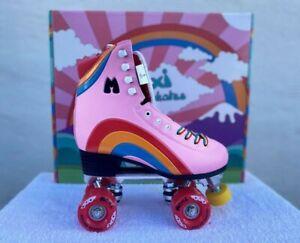 Moxi Rainbow Rider Pink Roller Skates Pink. Junior Size 3 New!