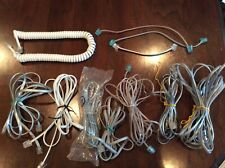 Lot of 11 Landline Telephone Cords/Cables, Various Lengths