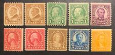 TDStamps: US Stamps Scott#597-599, 600-606 (10) Mint NH OG
