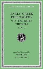 Loeb Classical Library: Early Greek Philosophy Vol. V, Pt. 2 : Western Greek...
