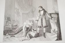 NAPOLEON PRINCESSE DE HATZFELD GRACE  GRAVURE 1838 VERSAILLES R1114 IN FOLIO