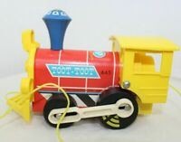 Fisher Price 1964 Toot Toot Toy Train Wooden Wood Plastic Vintage