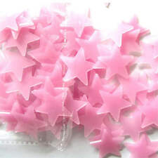100/pcs 3D Colored Stars Sticker Glow In The Dark Wall Decal Home Room Decor 3cm