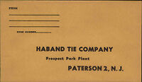 ~1960 USA Business Reply Envelope Antwortbrief ungelaufen Haband Tie Company