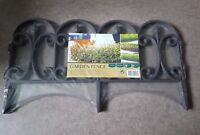 lot de 4 bordures Pvc plastique jardin clôture  aspect fer forgé border garden t