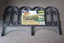 lot de 4 bordures Pvc plastique  pour jardin clôture  aspect fer forgé
