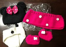 NEW!! Crochet Newborn Baby Girl Minnie Mouse Outfit Photo Prop