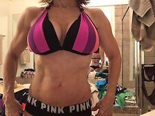 no brand push up  push in padding XL bikini top black coral purp Great condiiton