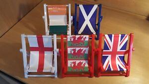 Novelty deckchair mobile phone holder various flag designs - new larger size