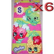 6pc Wholesale Bulk lots Kids Children Girls Shopkins Bath Beach Towel