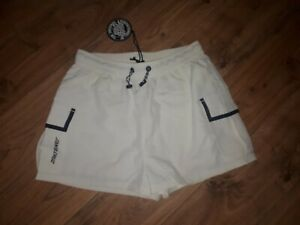 Santa Cruz Womens Strip Logo Shorts BNWT Size Medium RRP £36 Size 10 UK Ecru