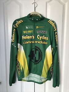 Cannondale Cycling Jersey Helens Cycle Short MENS Large 3/4 Zip USA Long Slv A51