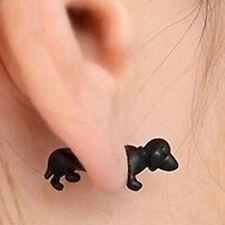 3D Hund Hunde Ohrstecker Ohrring Fake Piercing Plug Neu 11010