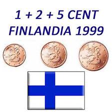 1 + 2 + 5 CENT 1999 FINLANDIA FINNLAND FINLAND - RARISSIMI FDC UNC DA ROTOLINO
