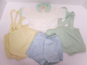 Vintage 1950's Baby Clothes Shorts Plastic Lined