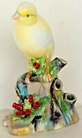 VTG ROYAL ADDERLEY FLORAL BONE CHINA CANARY BIRD FIGURINE MADE IN ENGLAND MINT