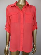 WITCHERY BLOUSE PINK SHIRT TOP - 10