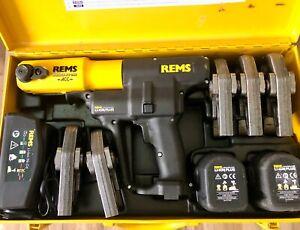 REMS Pressmaschine Akku Press ACC Nr 571014 + 5 Pressbacken Presszangen + 2 AKKU