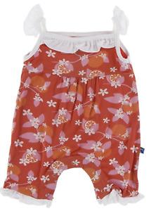 NEW Kickee Pants Wing Romper in Poppy Orange, size 6-12 months