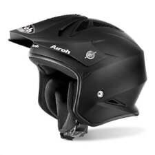 Airoh Adults TRR S Motor Bike Trials Helmet - Black Matt