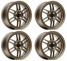 "ULTRALITE F1 17"" x 7.5J ET42 4x100 FLAT BRONZE ALLOY WHEELS RPF1 STYLE JR7 Y3174"