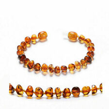 Genuine Baltic Amber Bracelet/Anklet Beads Knotted 14-20CM, 4 Colors