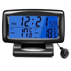 Auto KFZ Innen & Außen Digital LCD Thermometer Alarm Uhr Temperaturanzeige DHL