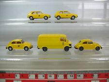 N357-0,5 #5x Wiking H0 Post: Mercedes MB ; Volkswagen VW Coccinelle ,Golf