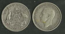AUSTRALIA 1942 D KING GEORGE VI SILVER 6d SIXPENCE COIN