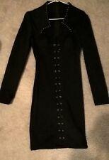 small black studded dress