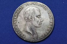 1814-A German States Prussia Silver 1 Thaler. XF+ details, ex-jewelry. - 1015