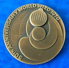 """Israel State Medal """"WIZO Jubilee"""" 1970 Bronze 59mm Coin UNC"""