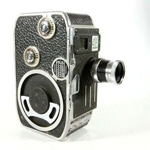 ✅ Paillard Bolex Vintage C8 8mm Film Movie Camera With f2.5 12.5mm Lens