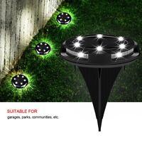 5W Solarlampe Bodenstrahler Solarleuchte RGB LED Garten Lampe Bodeneinbauleuchte