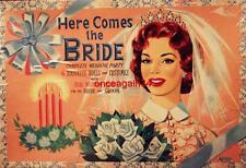 Vintage Uncut 1950's Here Comes The Bride Paper Dolls~#1 Reproduction~Fabulous!