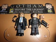 GOTHAM tv series MINIMATES figure BRUCE WAYNE + GORDON toy DC batman uni SDCC