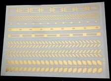 Planche de 8 Tatouages éphémères métallique waterproof. Tatoo temporaire or