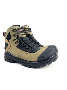 "Red Wing CRV 6"" Beige Leather Waterproof Safety Toe Work Boot 4426 Sz 9.5 EE"