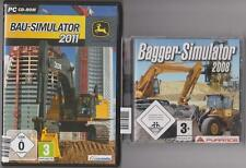 JOHN DEERE Bau Simulator 2011 + Bagger Simulator Sammlung PC Spiele