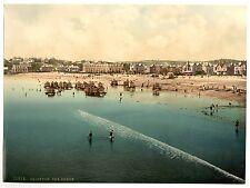 3 Victorian Views Pictures Paignton pier Beach Promenade Vintage 3 Old Photos