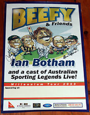 IAN BOTHAM WEG TOUR POSTER SIGNED BY IAN BOTHAM ALAN BORDER & DEAN JONES