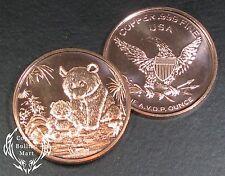 "1oz Copper Bullion Round - ""Panda"" Design"