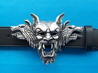 Dracula Vampire Belt Buckle Gothic Skull Goth Fangs Biker Metal FREE UK POST
