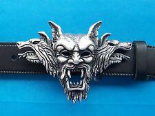 Drácula Vampiro Gótico Hebilla de cinturón cráneo Gótico Colmillos Biker Metal Free UK Post