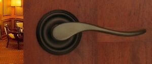 Pavilion Privacy Door Lever Set for Bedroom and Bathroom Doors by FPL