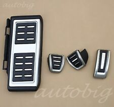 No Drill Manual Footrest Pedal Gas Brake Cover For VW GOLF7 GTI MK7 2013-2017